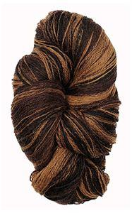 Kauni 8/2 - Farveskifte 100% Uldgarn fra Kauni  -  W-ED Grus, Chokolade og Sort