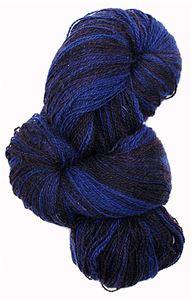 Kauni 8/2 - Farveskifte 100% Uldgarn fra Kauni  -  W-EL Mørk Violet og Blåsort