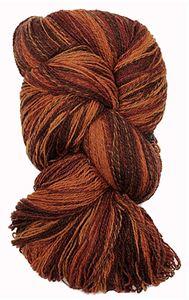 Kauni 8/2 - Farveskifte 100% Uldgarn fra Kauni  -  W-EP Rødbrun, Gulbrun og Chokolade