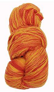 Kauni 8/2 - Farveskifte 100% Uldgarn fra Kauni  -  W-EU Gul, Orange og Rød