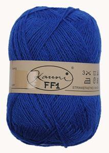 Kauni 8/2 - Ensfarvet 100% Uldgarn fra Kauni  -  W-FF1 Blå