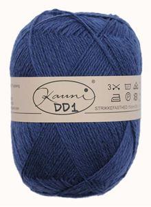 Kauni 8/2 - Ensfarvet 100% Uldgarn fra Kauni  -  W-DD1  Mørkeblå