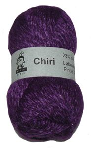 Lækker blød Chiri af silke og alpaka fra Butik Strik - Lilla