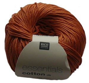 Merceriseret bomuldsgarn fra Rico Design - Cotton Essentials - 72 Orange