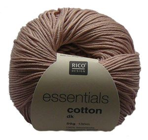 Merceriseret bomuldsgarn fra Rico Design - Cotton Essentials - 05 Gammelrosa