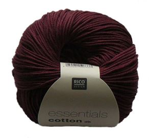 Merceriseret bomuldsgarn fra Rico Design - Cotton Essentials - 08 Mahogni