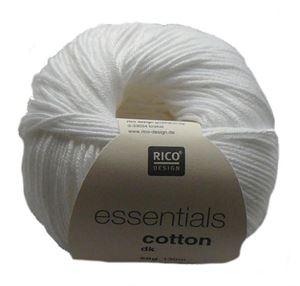 Merceriseret bomuldsgarn fra Rico Design - Cotton Essentials - 80 Hvid