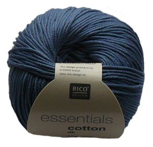 Merceriseret bomuldsgarn fra Rico Design - Cotton Essentials - 85 Denim