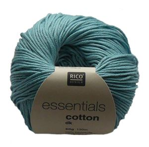Merceriseret bomuldsgarn fra Rico Design - Cotton Essentials - 95 Lys Turkis