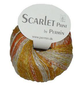 Scarlet og Print - Et hørgarn fra Permin - 01 Gul, Orange og Grå