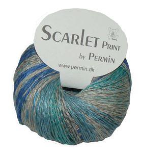 Scarlet og Print - Et hørgarn fra Permin - 03 Blå, Grå og Turkis