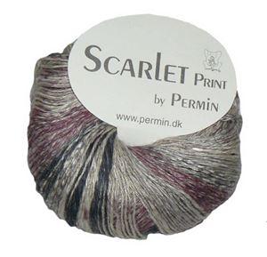 Scarlet og Print - Et hørgarn fra Permin - 06 Sort, Violet og Grå
