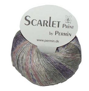 Scarlet og Print - Et hørgarn fra Permin - 08 Lavendel, Rosa og Te