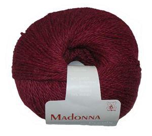 Lækker blød Uld, Alpakka og Mohair garn - Madonna fra Permin - 20 Vinrød
