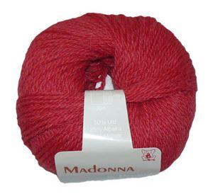 Lækker blød Uld, Alpakka og Mohair garn - Madonna fra Permin - 13 Rød