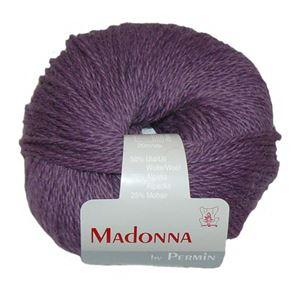 Lækker blød Uld, Alpakka og Mohair garn - Madonna fra Permin - 12 Violet