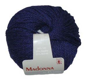 Lækker blød Uld, Alpakka og Mohair garn - Madonna fra Permin - 10 Kongeblå