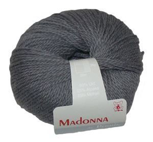 Lækker blød Uld, Alpakka og Mohair garn - Madonna fra Permin - 08 Mørkegrå