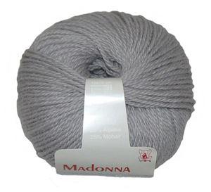 Lækker blød Uld, Alpakka og Mohair garn - Madonna fra Permin - 15 Lysegrå