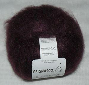Super lækker og blød Kid Silk 5 - Kidmohair og silke fra Grignasco - 1332 Aubergine