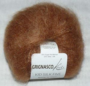 Super lækker og blød Kid Silk 5 - Kidmohair og silke fra Grignasco - 1007 Cognac