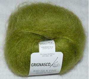 Super lækker og blød Kid Silk 5 - Kidmohair og silke fra Grignasco - 1005 Æblegrøn