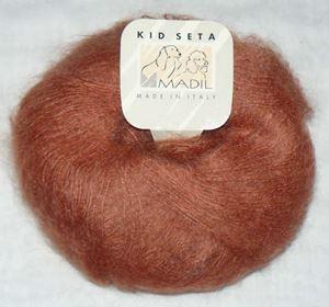 Super lækker og blød KidSeta kidmohair og silke fra Grignasco - 681 Cognac