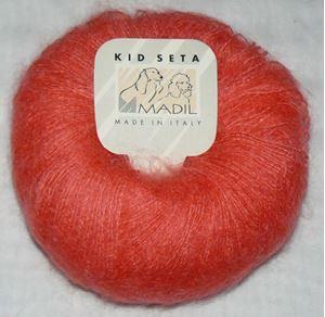 Super lækker og blød KidSeta kidmohair og silke fra Grignasco - 460 Neon Orange