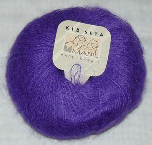 Super lækker og blød KidSeta kidmohair og silke fra Grignasco - 831 Lilla