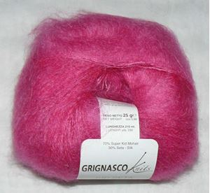 Super lækker og blød KidSeta kidmohair og silke fra Grignasco - 1011 Pink
