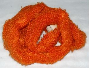 Mohair Bouclé fra Naturfiber - Blød og lækker - 1027 Appelsin