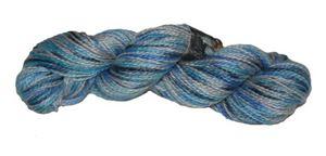 2-trådet KidMohair fra Naturfiber - 2072 Blå, Grå og Turkis Mix