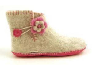 Clemente Halvstøvle - grå med rosa