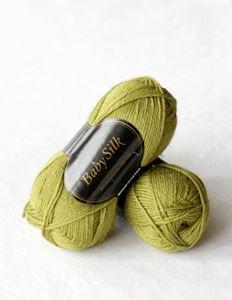 Super lækker BabySilk strikkegarn fra Du Store Alpakka - 307 Æblegrøn