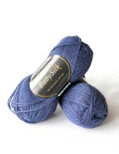 Super lækker BabySilk strikkegarn fra Du Store Alpakka - 314 Mørkeblå