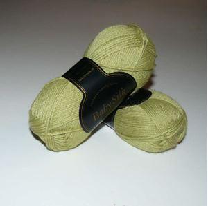 Super lækker BabySilk strikkegarn fra Du Store Alpakka - 316 Lys Æblegrøn