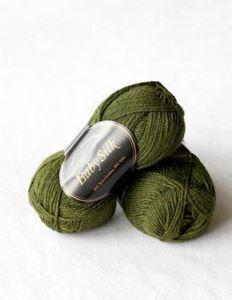 Super lækker BabySilk strikkegarn fra Du Store Alpakka - 319 Flaskegrøn