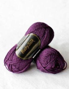 Super lækker BabySilk strikkegarn fra Du Store Alpakka - 320 Lilla