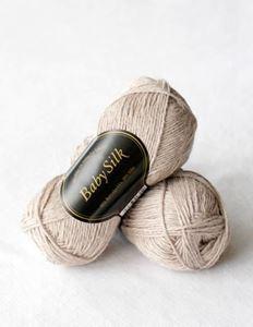 Super lækker BabySilk strikkegarn fra Du Store Alpakka - 324 Beige