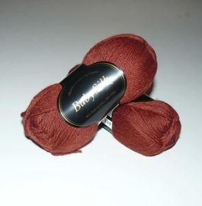 Super lækker BabySilk strikkegarn fra Du Store Alpakka - 325 Rødbrun