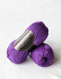 Super lækker BabySilk strikkegarn fra Du Store Alpakka - 329 Lilla