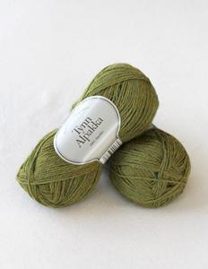 Tynn Alpakka -100% Alpakka fra Du Store Alpakka - 136 Æblegrøn Meleret