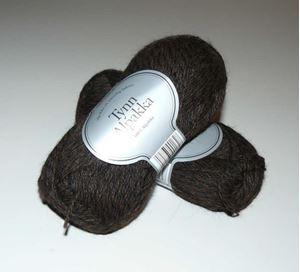 Tynn Alpakka -100% Alpakka fra Du Store Alpakka - 162 Brun-Sortmix
