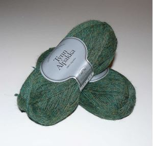 Tynn Alpakka 164 - Grøn Meleret