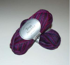 Tynn Alpakka -100% Alpakka fra Du Store Alpakka - 191 Violet Mix