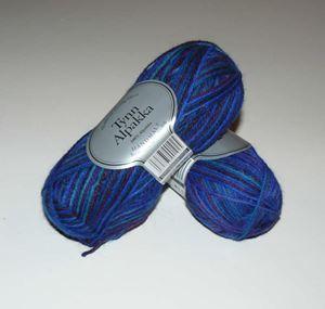 Tynn Alpakka -100% Alpakka fra Du Store Alpakka - 192 Blå Mix