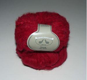 Tykt Nanuk - 100% Alpakka strikkegarn fra Du Store Alpakka - 607 Rød