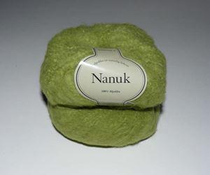 Tykt Nanuk - 100% Alpakka strikkegarn fra Du Store Alpakka - 610 Æblegrøn