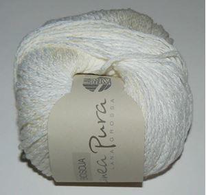 BioSoja - Lækker biologisk strikkegarn fra LanaGrossa - 004 Hvid