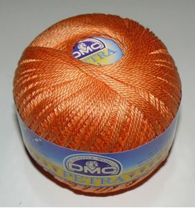 DMC Petra 3 - Merceriseret bomuld hæklegarn fra DMC - 5722 Appelsin